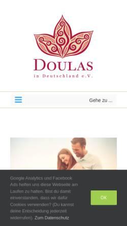 Vorschau der mobilen Webseite www.doulas-in-deutschland.de, Doulas in Deutschland e.V.