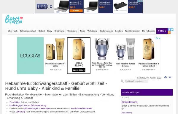 Vorschau von www.hebamme4u.net, Hebamme4U