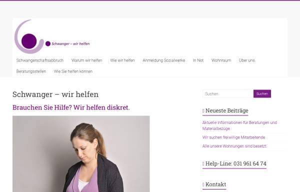 Vorschau von www.schwanger-wir-helfen.ch, Schwanger, ratlos - wir helfen