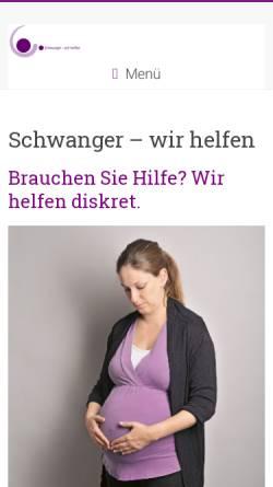 Vorschau der mobilen Webseite www.schwanger-wir-helfen.ch, Schwanger, ratlos - wir helfen