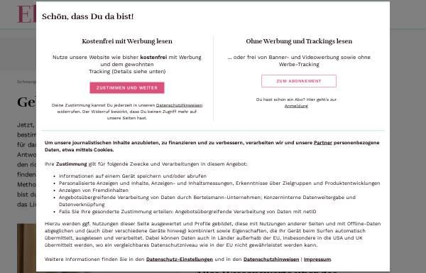 Vorschau von www.eltern.de, Schwangerschaft und Geburt