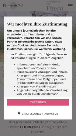 Vorschau der mobilen Webseite www.schwangerschaft.de, Schwangerschaft.de