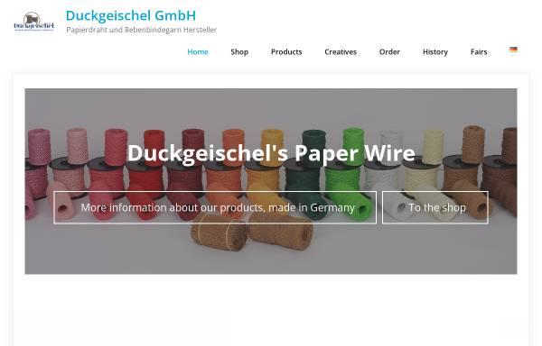 Vorschau von duckgeischel.de, Duckgeischel GmbH