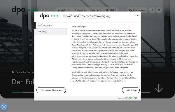 Vorschau von www.dpa.de, DPA - Deutsche Presse Agentur