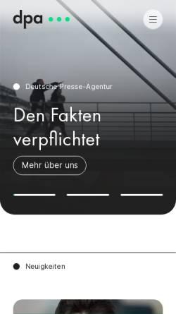 Vorschau der mobilen Webseite www.dpa.de, DPA - Deutsche Presse Agentur