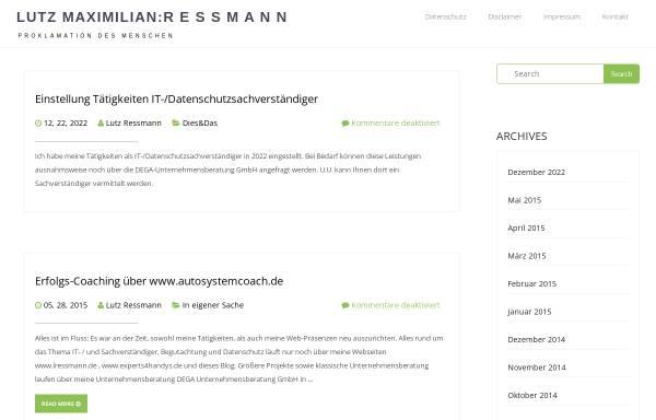 Vorschau von www.lressmann.de, Dipl.-Kfm. Lutz Ressmann