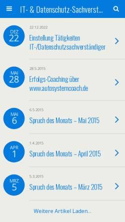 Vorschau der mobilen Webseite www.lressmann.de, Dipl.-Kfm. Lutz Ressmann
