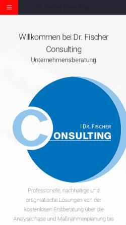 Vorschau der mobilen Webseite www.drfconsulting.de, Dr. Lars Fischer Consulting