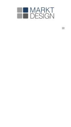 Vorschau der mobilen Webseite www.markt-design.de, Markt + Design eK