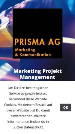 Vorschau der mobilen Webseite www.prisma-ag.ch, Prisma AG