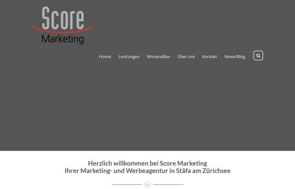 Vorschau von www.scoremarketing.ch, Score Marketing