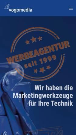 Vorschau der mobilen Webseite www.vogomedia.de, Vogomedia Marketing und Kommunikation