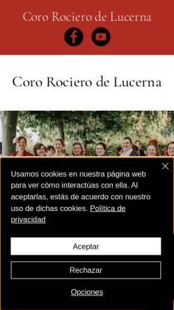 Vorschau der mobilen Webseite www.coro-rociero.ch, Coro Rociero de Lucerna