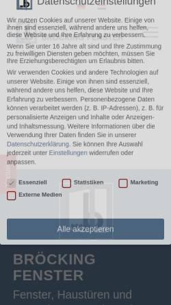 Vorschau der mobilen Webseite www.broeckingfenster.de, Bröcking Fenster oHG