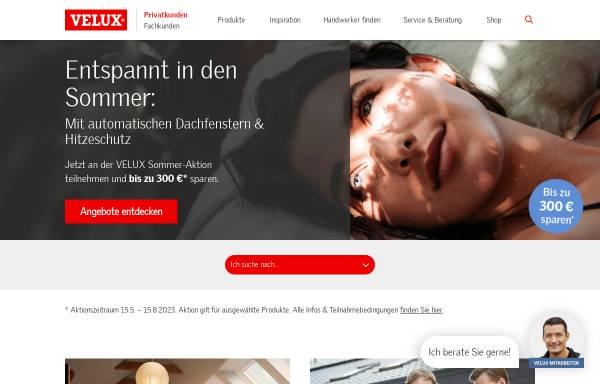 Vorschau von www.velux.de, Velux Deutschland GmbH