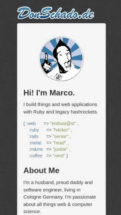 Vorschau der mobilen Webseite www.donschado.de, Schaden, Marco - Don Schado