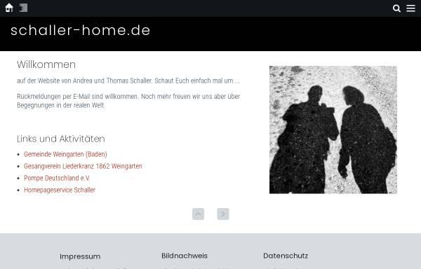 Vorschau von schaller-home.de, Schaller, Familie