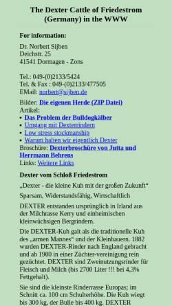 Vorschau der mobilen Webseite sijben.de, Sijben, Dr. Norbert