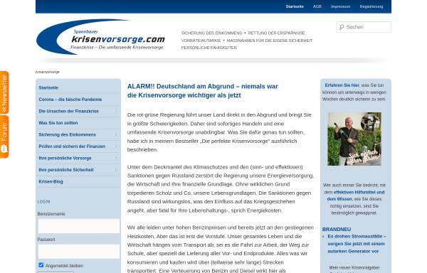 Vorschau von www.krisenvorsorge.com, Spannbauer, Gerhard