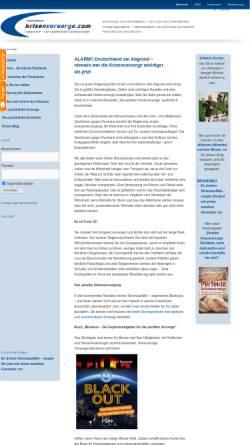 Vorschau der mobilen Webseite www.krisenvorsorge.com, Spannbauer, Gerhard