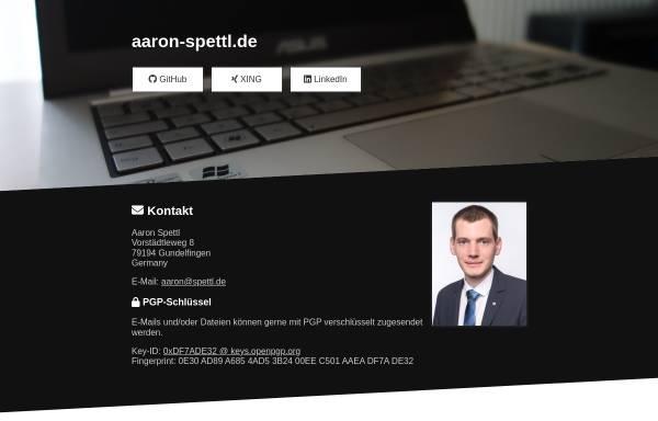 Vorschau von www.aaron-spettl.de, Spettl, Aaron