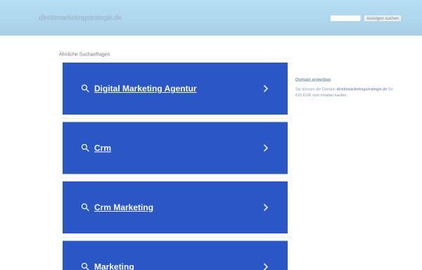 Vorschau von www.direktmarketingstrategie.de, Philip Porten: Konzept des Direktmarketing