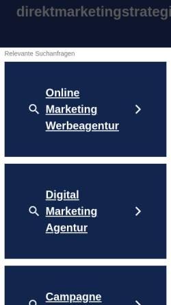 Vorschau der mobilen Webseite www.direktmarketingstrategie.de, Philip Porten: Konzept des Direktmarketing