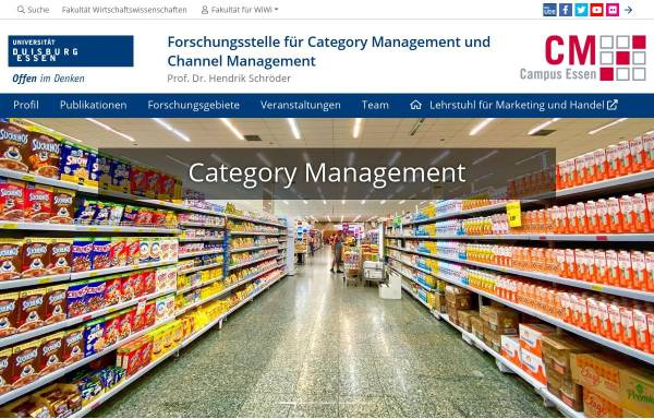 Vorschau von www.category-management.net, Wissenschaftliche Basis des Category Managements