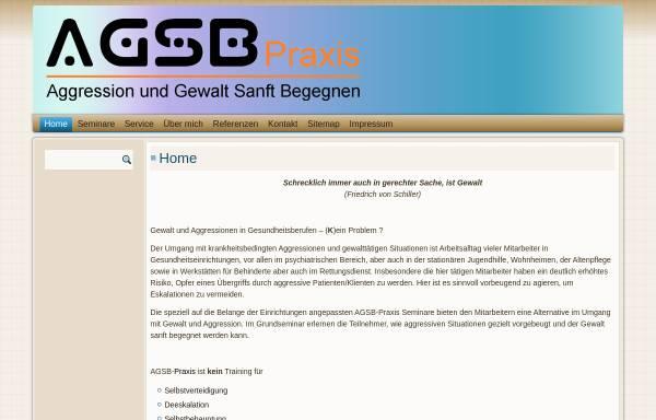 Vorschau von www.agsb-praxis.de, AGSB - Aggression und Gewalt Sanft Begegnen