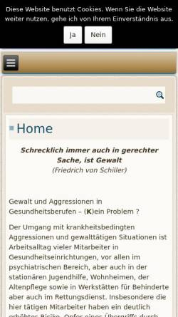 Vorschau der mobilen Webseite www.agsb-praxis.de, AGSB - Aggression und Gewalt Sanft Begegnen