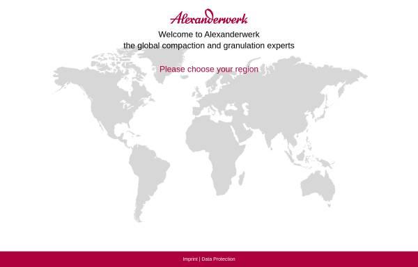 Vorschau von www.alexanderwerk.com, Alexanderwerk AG