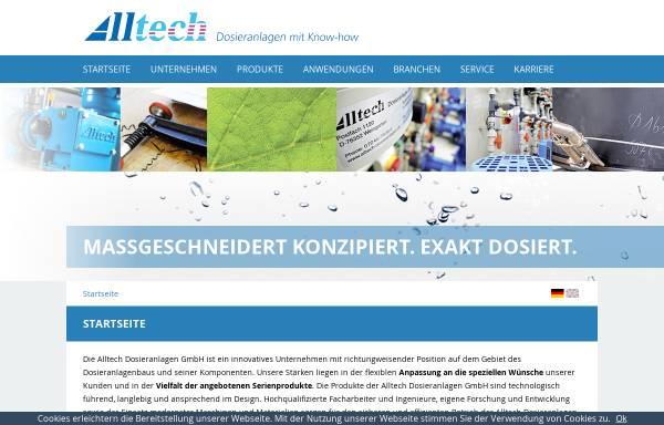 Vorschau von www.alltech-dosieranlagen.de, Alltech Dosieranlagen GmbH