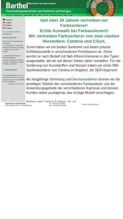 Vorschau der mobilen Webseite www.barmai.de, Barthel - Maschinen und Ingenieurbüro