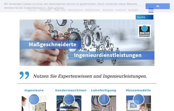 Vorschau von www.bracker-engineering.de, Bracker GmbH
