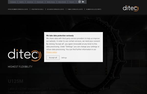 Vorschau von www.ditec-kt.de, Ditec Dichtungstechnik GmbH