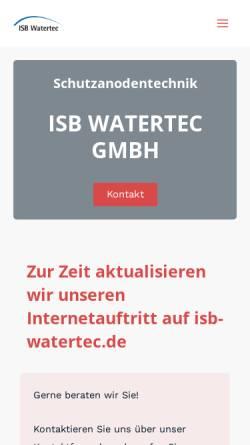 Vorschau der mobilen Webseite www.isb-watertec.de, ISB Watertec GmbH