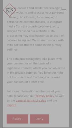 Vorschau der mobilen Webseite www.ks-tech.at, KS-Tech Kneissl & Senn Technologie GmbH