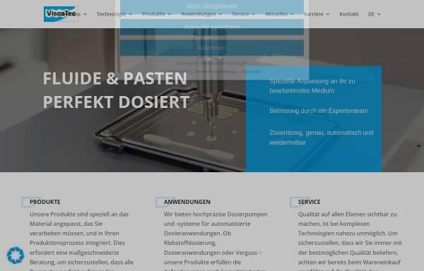 Vorschau von www.viscotec.de, ViscoTec Pumpen- und Dosiertechnik GmbH