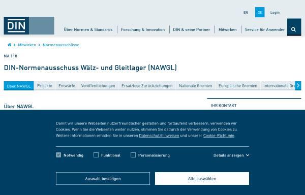Vorschau von www.awl.din.de, Ausschuss Wälzlager (AWL) des DIN Deutsches Institut für Normung e.V.