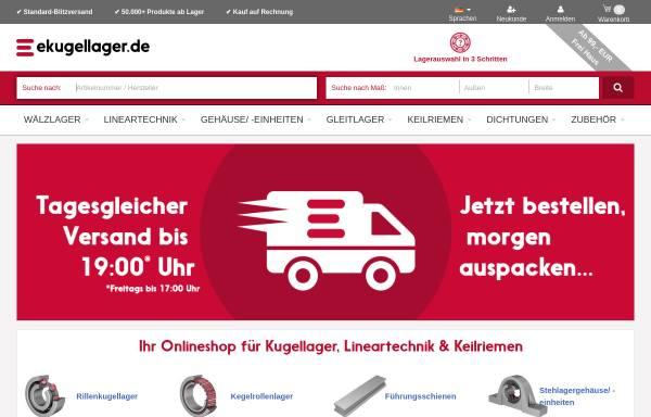 Vorschau von www.ekugellager.de, kugellager-online GmbH & Co. KG