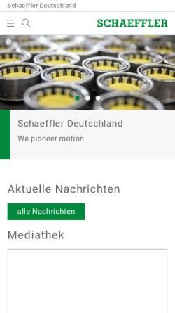 Vorschau der mobilen Webseite www.ina.de, INA-Schaeffler KG