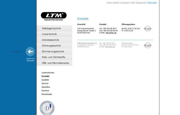 Vorschau von www.ltm.de, LTM Industriebedarf, Inh. Fritz Mayer