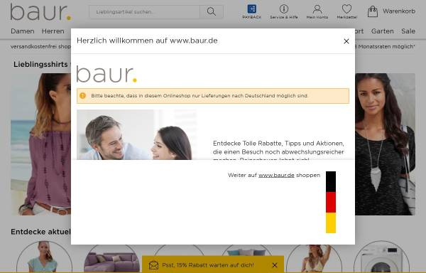 Vorschau von www.baur.de, Baur Versand GmbH & Co. KG