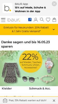 Vorschau der mobilen Webseite www.baur.de, Baur Versand GmbH & Co. KG