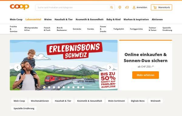 Vorschau von www.coop.ch, Coop-Internet
