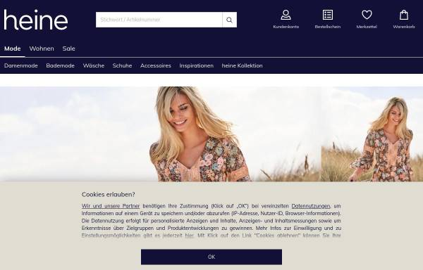 Vorschau von www.heine.de, Heinrich Heine GmbH