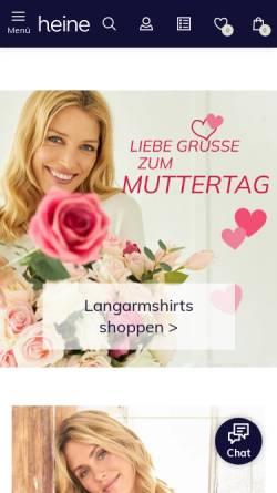 Vorschau der mobilen Webseite www.heine.de, Heinrich Heine GmbH
