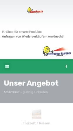 Vorschau der mobilen Webseite www.smartkauf.ch, HS Production