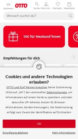 Vorschau der mobilen Webseite www.otto.de, Otto GmbH & Co KG