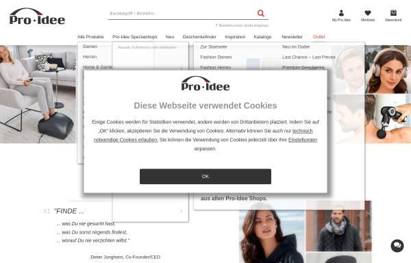 Vorschau von www.proidee.de, Pro-Idee GmbH & Co. KG